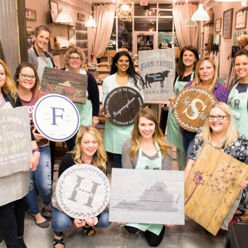 diy wood sign workshop