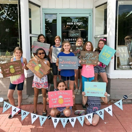 diy wood sign making birthday party